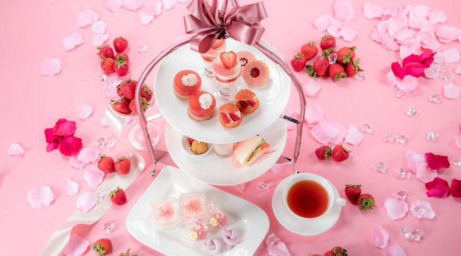 Sweet Pink Strawberry Afternoon Tea ~HAIKARA 春色のいちごづくし~イメージ画像